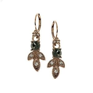 Marchesa Pave & Colored Stone Drop Earrings Black
